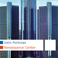 John Portman Renaissance Center Detroit