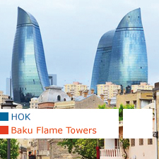 Baku Flame Towers, HOK