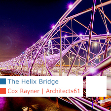 The Helix Bridge, Singapore, Marina Bay, Cox Rayner Architects, Architects61, Arup